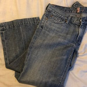 7 for all mankind wide crop jeans